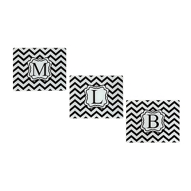 Chevron Monogram Cutting Board, Assortment 2
