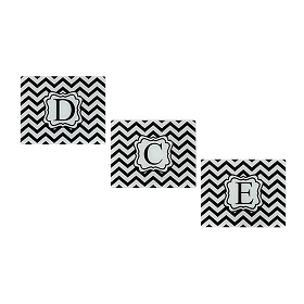 Chevron Monogram Cutting Board, Assortment 3