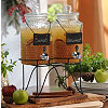 Beverage Dispenser, Set of 2 with Stand