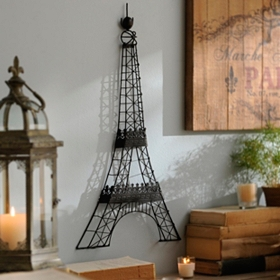 Eiffel Tower Metal Wall Plaque
