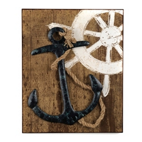 Anchor & Rope Wall Plaque