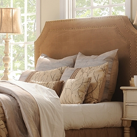 Serena Khaki Queen Headboard