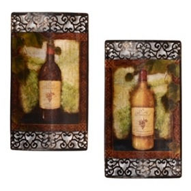 Noble Vineyard Metal Wall Art, Set of 2
