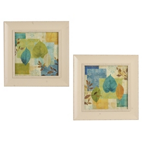 Leaf Collage Framed Art Prints
