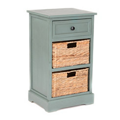 Blue 3-Drawer Storage Chest with Baskets