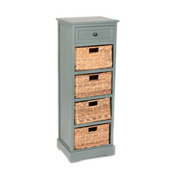Blue 5-Drawer Storage Chest with Baskets