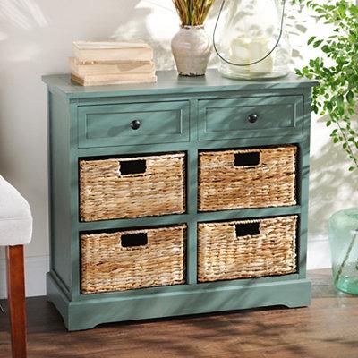 Blue 6-Drawer Storage Chest with Baskets