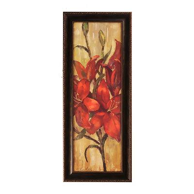 Vivid Red Floral I Framed Art Print