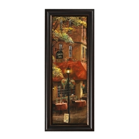 Mandi's Corner Cafe Framed Art Print