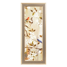 Songbirds & Blooms II Framed Art Print