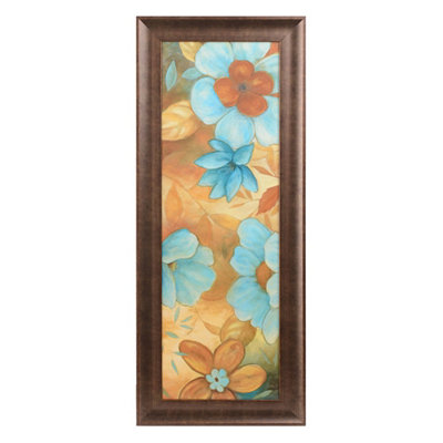 Blue Blossoms II Framed Art Print