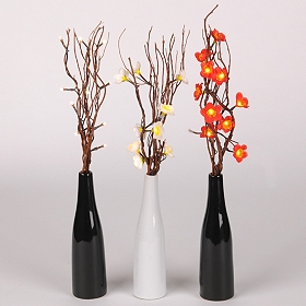 Pre-Lit Twisted Twig & Floral Arrangement
