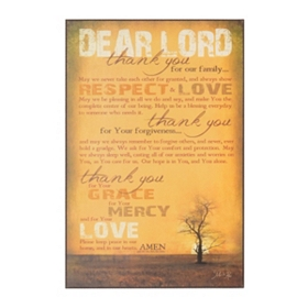 Family Prayer Wall Plaque