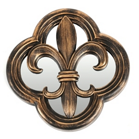 Fleur-de-lis Mirrored Wall Plaque