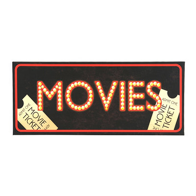 Movies LED Canvas Art