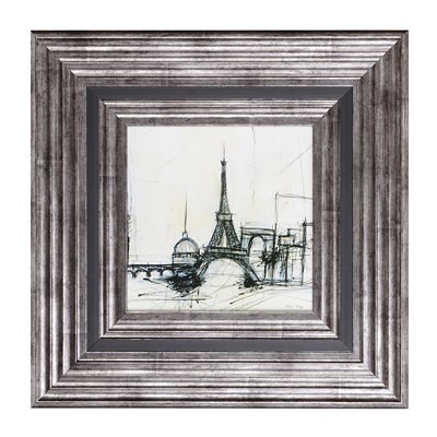 Eiffel Tower Framed Art Sketch