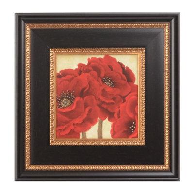 Jacobean Poppies II Framed Art Print