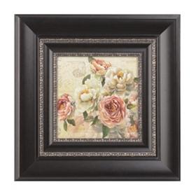 Floral Letters I Framed Art Print