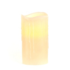 Ivory LED Flameless Pillar Candle, 6 in.