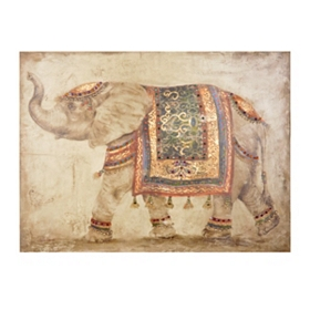 Jeweled Elephant Canvas Art Print