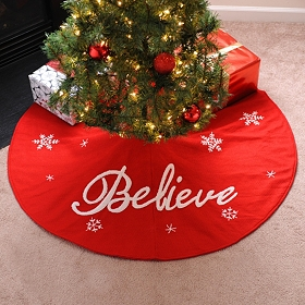 Red Believe Tree Skirt