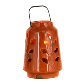 Ceramic Spice Leaf Lantern, 10 in.