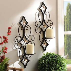 Laney Bling Sconces, Set of 2