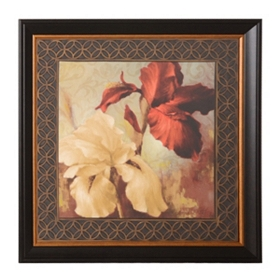 Red Iris & Lilies I Framed Art Print