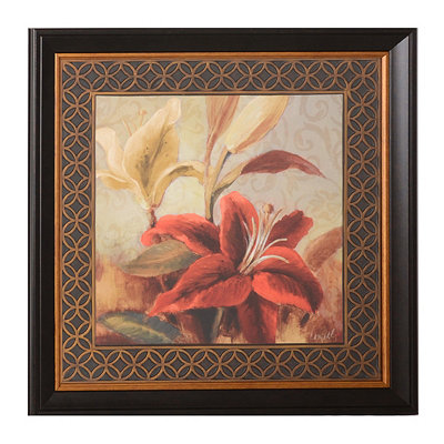 Red Iris & Lilies II Framed Art Print