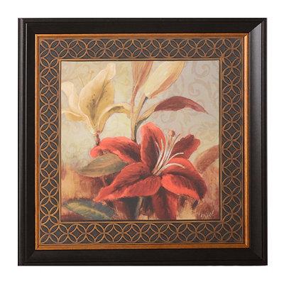 Red Iris & Lilies II Framed Art Print