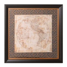 Hemisphere Maps I Framed Art Print