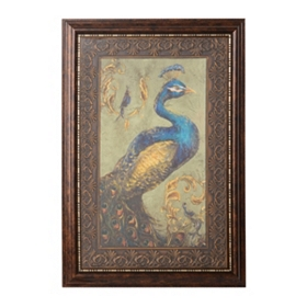 Peacock Pair I Framed Art Print