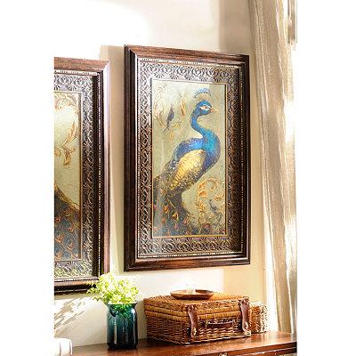 Peacock Pair II Framed Art Print