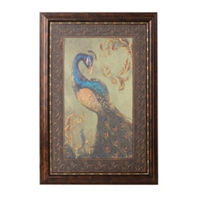 Peacock Pair II Framed Art Print