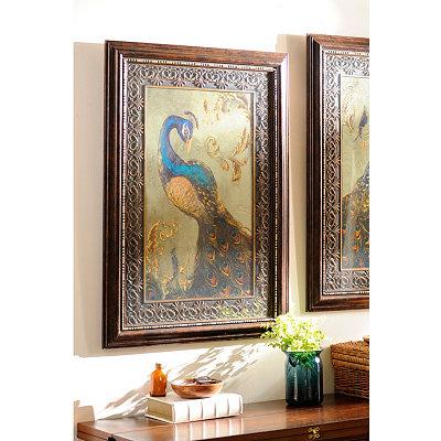 Peacock Pair I Framed Art Print