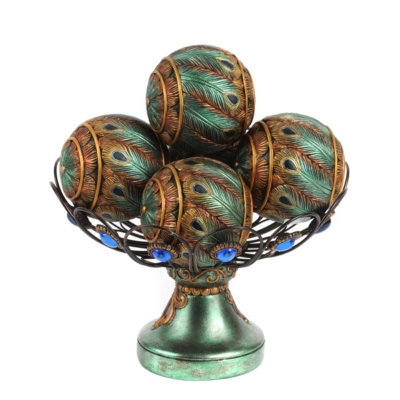 Peacock Orb Bowl