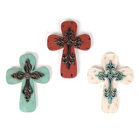 Colorful Cross Wall Plaque