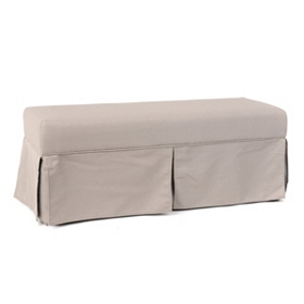 Nora Gray Skirted Bench