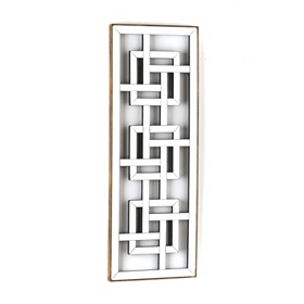 Metal Mirrored Fretwork Wall Panel
