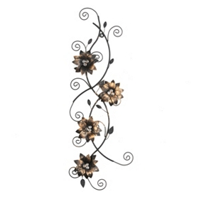 Sophie Floral Metal Wall Art