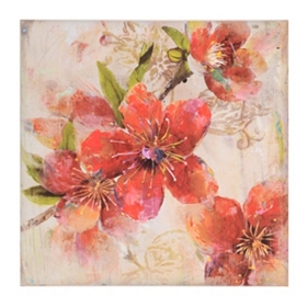 Red Island Hibiscus Canvas Art Print