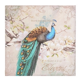 Antique Peacock I Canvas Art Print