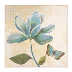 Blue Geo Floral I Canvas Art Print