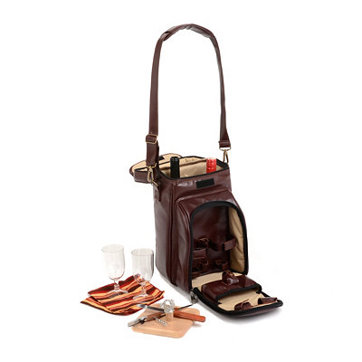 Serenata Burgundy Wine & Cheese Picnic Tote Set