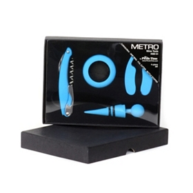 Metro Blue 4 pc. Wine Tool Set
