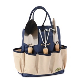Navy Blue 4 pc. Garden Tool Tote Set
