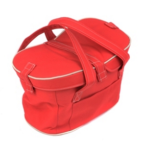 Mercado Red Fabric Picnic Basket