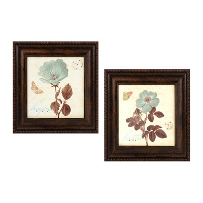 A Touch of Blue Framed Art Print, Set of 2