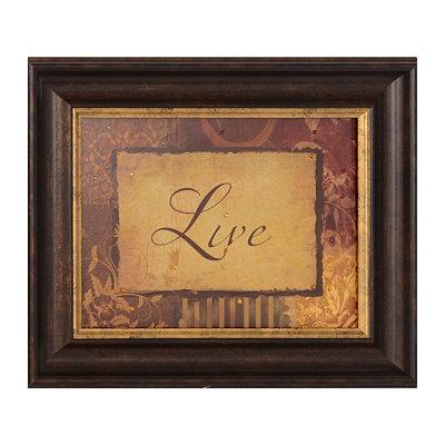 Live Vintage Framed Art Print