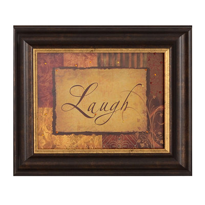 Laugh Vintage Framed Art Print